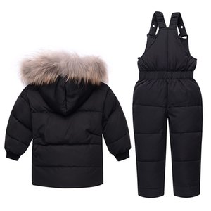 2018 fashion winter Down Jacket Children clothing Thickening kids clothes 3 colours coats + overalls baby snowsuit outerwear