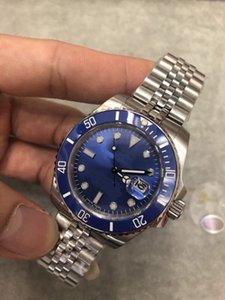 U1 fábrica de la alta calidad superior del reloj para hombre SUB 116619LB zafiro Esfera Azul 40MM de cerámica Bisel 316 Jubilee top de la correa del reloj mecánico