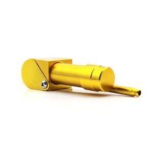 Brand New Art und Weise 90MM Metall Tabakpfeifen-Pfeife Neuheit-Einzelteile Geschenk Herb Aluminiumlegierung Druck-Stick-Mundstück VT0179