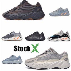 2020 Azael Alvah 700 V3 Mens Designer Shoes Kanye West incandescenza bianca In Dark modo di alta qualità del progettista donne degli uomini addestratori correnti Wit # QA693