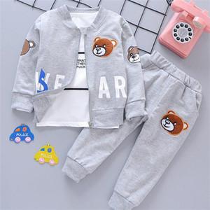 New Fashion Children Boys Girls Clothing Sets Spring Autumn Cotton Coat + T-shirt + Pants 3 Pcs Set Tracksuit Kids Baby Clothes