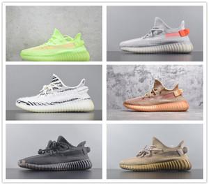 Продажи моды V2 Мужская конструктор кроссовки Kanye West Antlia Synth Lundmark Gid светящихся Ордер Zebra Cream Женская Беговая обувь Мужская обувь