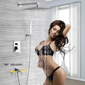 unique complete shower set rain showerhead with hand spray and faucet spout hot cold shower mixer set