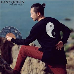 Yeni gündelik sonbahar örme ceket İnce Çin usulü giyim Moda erkekler Çinli Wushu üniforma kungfu giyim 1692z kazak