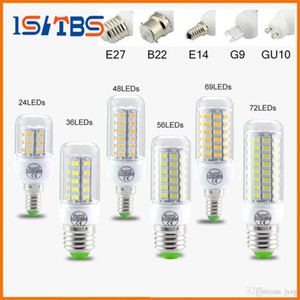 SMD5730 E27 GU10 B22 E14 G9 LED lámpara 7W 12W 15W 18W 20W 220V 110V 360 ángulo SMD LED bombilla luz de maíz