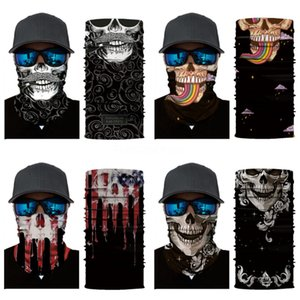 Outdoor Cycling Skull Scarf Bicycle Ski Face Mask Bandanas Magic Turban Riding Sports Cap Masks Sunscreen Neck Warmer Hair Band #873#931