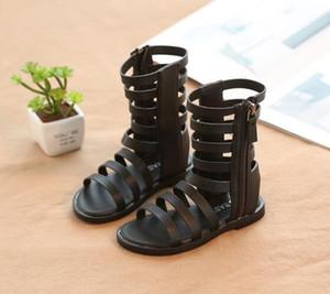 Hot vender infante / criança / Kid / Crianças Moda Gladiator Sandals Roman Baby Girl Verão high-botas sandália