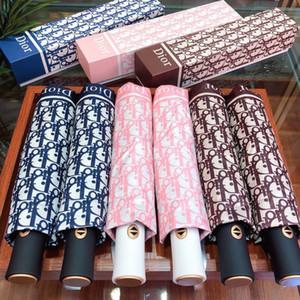 Reisen Frauen-beiläufige Regenschirm tragbare Falten UV-Schutz Sonnenschirm Vollautomatische Sonne Regen Regenschirm für Geburtstags-Geschenk