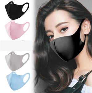 مكافحة الغبار الجليد الحرير قناع الوجه 5 ألوان شنقا الأذن قناع تنفس قابل للغسل للجنسين في الهواء الطلق الفم أقنعة LJJO7690