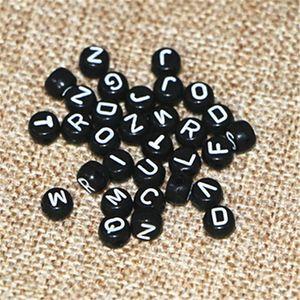 Redondos Mix Acrílico Corações 26 Letter DIY Beads DIY Jóias Fit Charme Colar conhecida Pulseira 2000pcs Jóias Package