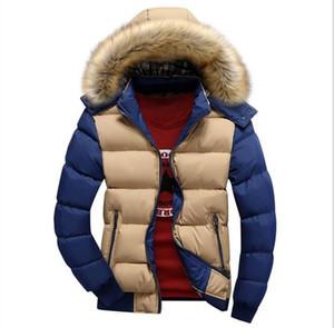 Новые Зимние мужские Пуховики Длинные Куртки Пальто Мужская Мода Толстый Теплый Большой Шерстяной Мех С Капюшоном Плюс Размер Куртки Для Мужчин Зимние Парки Высокое Качество