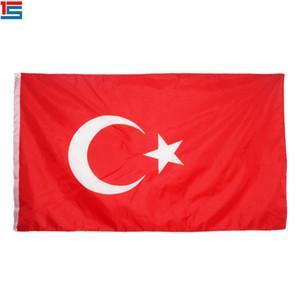 Digitaldruck Türkei Flagge 90 x 150 cm Polyester National Country Flag Banner mit zwei Ösen