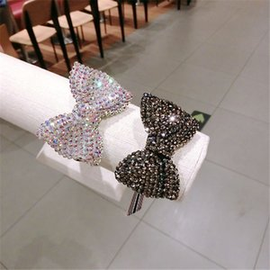 Princesa Kids Girl Hair Bandas de goma Moda Rhinestone Arco Mujeres Elatstic Rubber Bands Lovely Performance Hair Jewelry