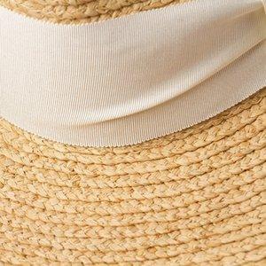 01905-HH7356 Handmade natural raffia grass fedoras hat men women panama jazz cap