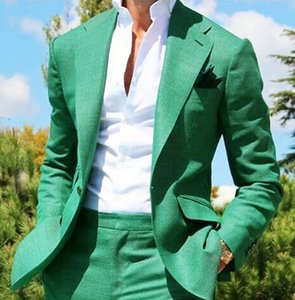 New Two Pieces Mens Suits Classic Fit Notched Lapel Blazer Fashion Wedding Grooms Tuxedos One Button Formal Prom Suit Jacket And Pants