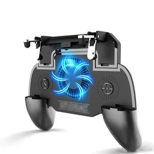 Sem fio Game Pad Pubg Controlador Joystick Joypad Gamepad para PUBG Fortnite L1R1 volume de negócios Triggers fogo Teclas Com Carregador Cooling Pad