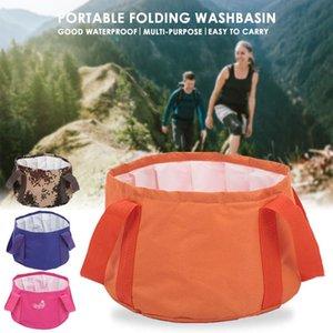 Folding Basin Folding Bucket Storage Bag Travel Outdoor 600D Fabric Waterproof Bag Sport Rowing Canoe Outing