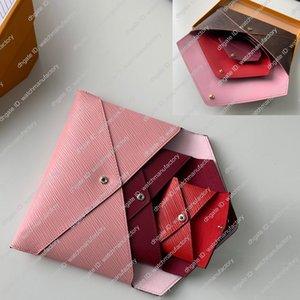 3 Zarf Kese Çanta Katı Renkler Gezi sırala Suit Combo Yüksek Kaliteli Gerçek Deri Astar cüzdan Lüks Tasarımcı Orgnaizer Çanta Seti