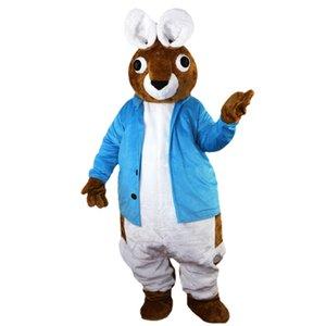 2018 Nueva alta calidad de Peter Rabbit trajes de la mascota para adultos circo navidad de Halloween traje elegante traje de libre Shipping012