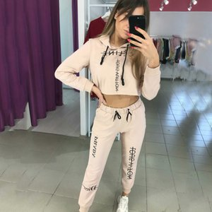 Women 2Pcs Summer Sets Tracksuits trendy Solid Color Letter Print Two Piece Set Womens Casual Two Piece Pant New Clothing Set