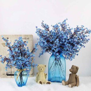 Gypsophila 5 Branch Stars Flower Simulation Fake Flowers Artificial Flowers Bride Bouquet Rustic Real Touch 1 Pcs Baby Breath PU