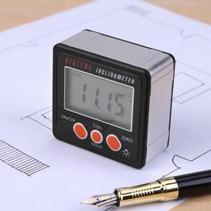 정밀 디지털 각도기 경사계 레벨 상자 방수 90도 눈금자 각도 파인더 측정 베벨 상자 고니 오 미터