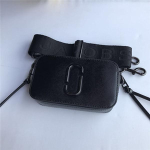 Hochwertige neue Farbanpassung Kameratasche MJ bunte breite Schultergurt einzelne Schulter diagonal Frauen-Stadtstreicherin Leder Quadrat