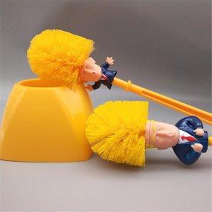WC Trump-Bürsten-Satz weicher Pelz Stiel Toilette Trump Pinsel No tote Ecke European Fashion Home Toilette Trump Bürste # 124