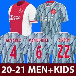 20 21 ajax soccer jersey DE JONG DE LIGT camiseta de fútbol VAN DE BEEK NERES 2020 2021 ajax amsterdam camisa de futebol TADIC ZIYECH maillot de foot
