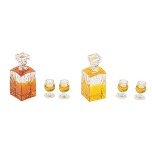 1:12 Scale Dollhouse Miniature Accessories Whiskey Wine Bottle Bar Model