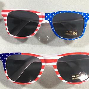 Çocuklar Amerikan Bayrağı Güneş gözlüğü Moda Kadın Gezi Plaj Güneşlik Erkekler Açık Bisiklet Sürüş Gözlük TTA1149-14