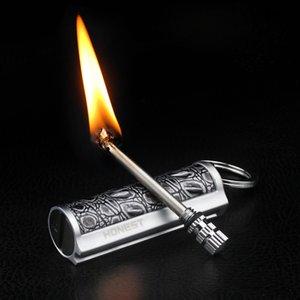 Anında Metal Maç Çakmak Yangın Starter Torch Gazyağı Petrol Çakmak Erkek Hediye Açık Survival Güvenlik Aracı