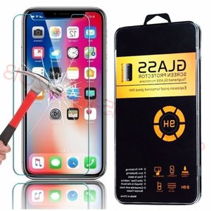 Tempered glass for iphone 5 6 7 8 Plus X XR XS Max 11 Pro Max screen protector 2.5D 9H hardness anti-scratch film for LG Sony android pho