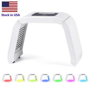 Stock en EE. UU. 7 Color PDT Máscara Facial LED PDT Luz Para Terapia de la Piel Máquina de belleza Para el rejuvenecimiento de la piel de la cara equipo de belleza