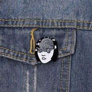 Cool Girl Emaille Pins und Broschen Japan Classic Movie Charakter Broschen Pins Punk Schmuck-Geschenk für Freunde