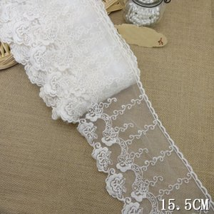 10yard lot 15.5cm wide Embroidered Tulle Lace trim mesh lace trim ~ Beige~lovely