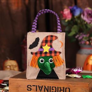Nuovo Partito Festivel Forniture streghe zucca di Halloween Gift Candy Bag Biscotto borsa Trattare o un trucco Candy regalo sacchetto di immagazzinaggio VT0678