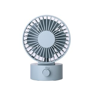 Mini Portable Quiet Usb Desk Fan Home Office Electric Oscillating Table Cooler Top Selling(Blue)