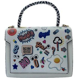 من المألوف شخصية طباعة الكتابة على الجدران، والرسوم المتحركة الفصل الجزئي حقيبة يد، حقيبة الكتف السيدات، العصرية يجب أن يكون