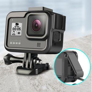 جديد سبائك الألومنيوم ستاندرد اقية حالة الإطار لمن GoPro البطل 8 الأسود الرياضة كاميرا العمل قاعدة العودة برو Hero8 اكسسوارات