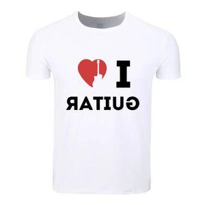 Love Guitar Cotton Students Summer T-Shirt Custom Casual Short Sleeve Men Women Boys Girls T Shirt Tees Kids Tshirt