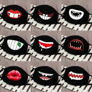 Masque poussière dents Ghost Imprimer Anti Splash et Splatte Masques Ombrelle bouche couverture adultes Earloop respirateurs Mascherine en stock 2 85ch P1