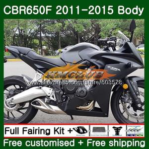 CBR650F Per CBR 650F 650 F 2011 2012 2013 2014 2015 130CL.16 CBR650 F CBR650 CBR650F 11 12 13 14 15 opaco carenatura nera