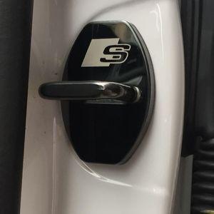 4 PCS Set New Arrival car Door lock covers protecting Anti-corrosive case for AUDI A1 A3 A4 A5 A7 A8 Q3 Q5 Q7 car styling
