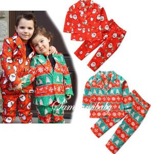 Crianças Designer Clothes Meninos Natal Gentleman Suit Bebê Papai Noel Snowflake Blazer Terno Outono Negócios Casacos Brasão Pants Outfits C6502