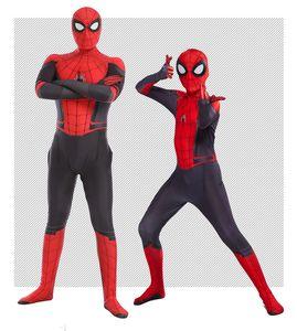 2020 Halloween Kids Spider Man Far From Home Peter Parker Косплей Zentai Человек-паук Superhero BodySuit Костюм Комбинезоны