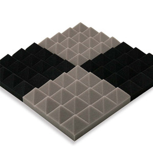 25x25x5cm Acoustic Tratamiento Espuma de sonido insonorización de absorción de ruido Esponja Excelente etiqueta de la pared de aislamiento de sonido Soundproof