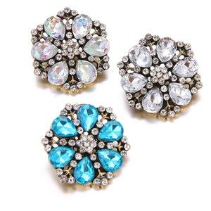 boutons de fleurs en vrac en cristal strass en vrac boutons-pression bouton charme pas cher rouge acrylique strass boutons
