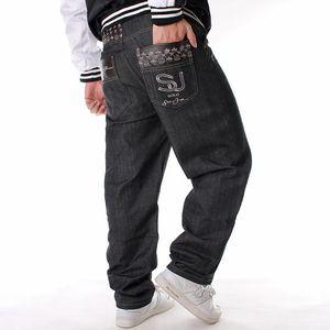 E-BAIHUI europäischen und amerikanischen Stil Herren Jeans Trend lange Hosen lose lässig plus Skateboard Hip Hop Jeans Herren Street Dance Kostüm L603