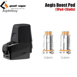 GeekVape Aegis Boost 3,7 ml Pod con Aegis Boost Bobinas 0.6ohm 0.4ohm reemplazo Top Sistema de llenado de la vaina del cartucho Ecigarette original del 100%
